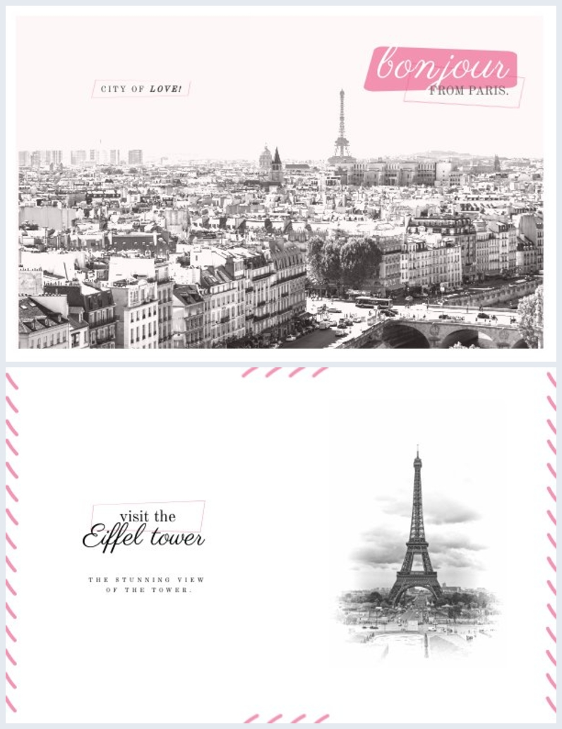 Postkarten-Design im Vintage-Stil