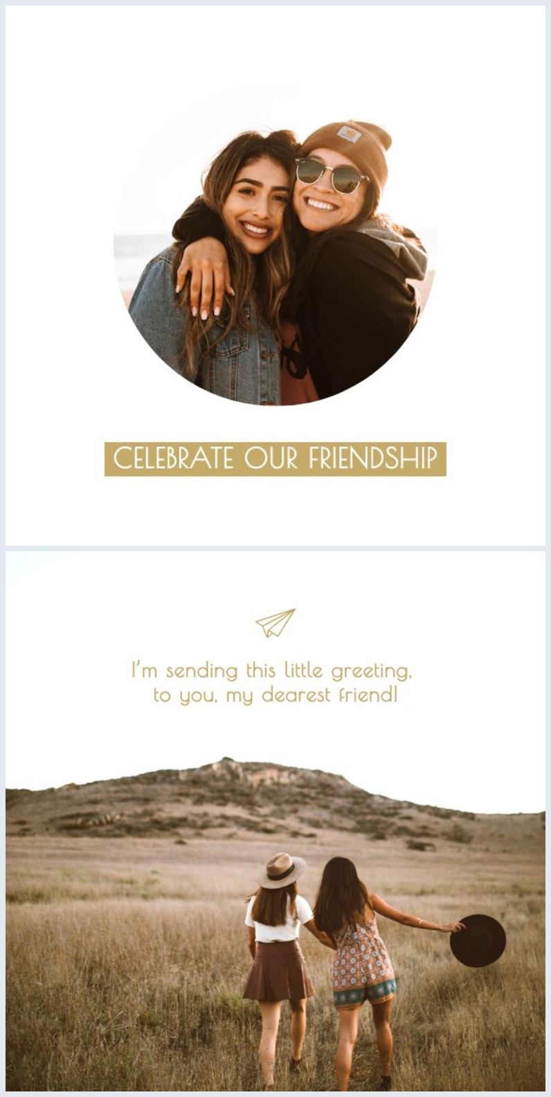 friendship card design