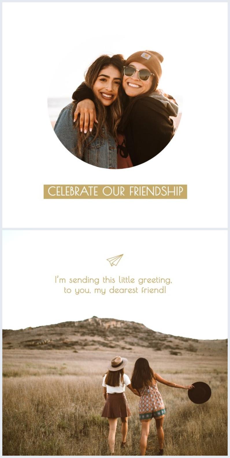 diseño de tarjeta de amistad