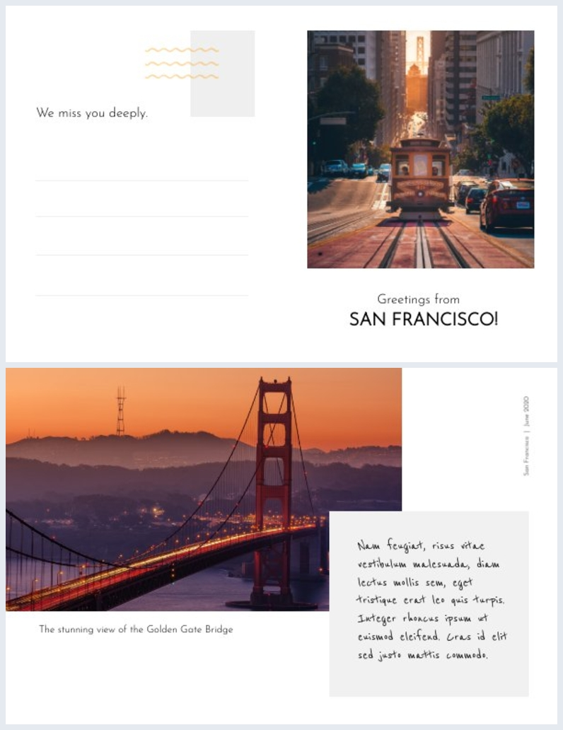 San Francisco Postcard Design