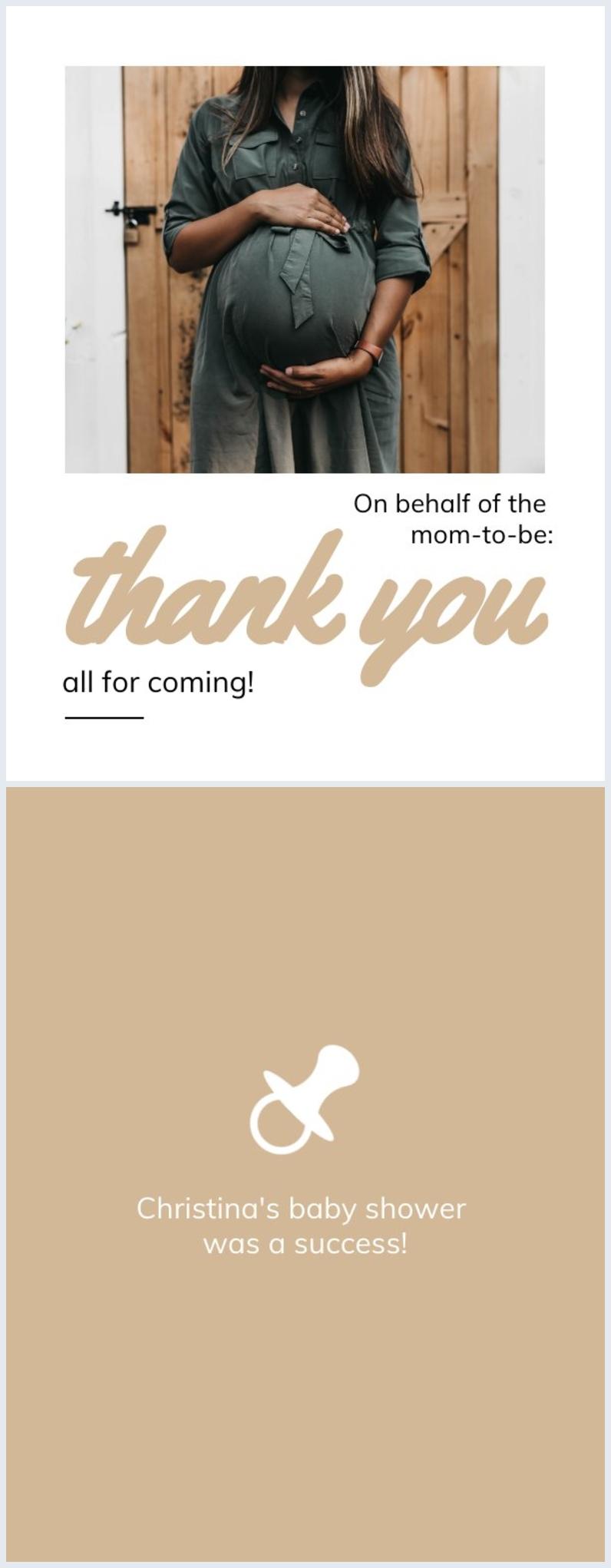 Thank you photo card design