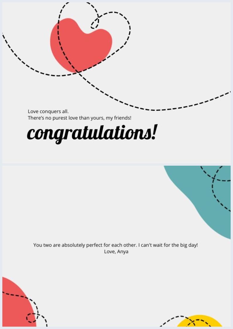 Editierbare Verlobungskarten-Vorlage