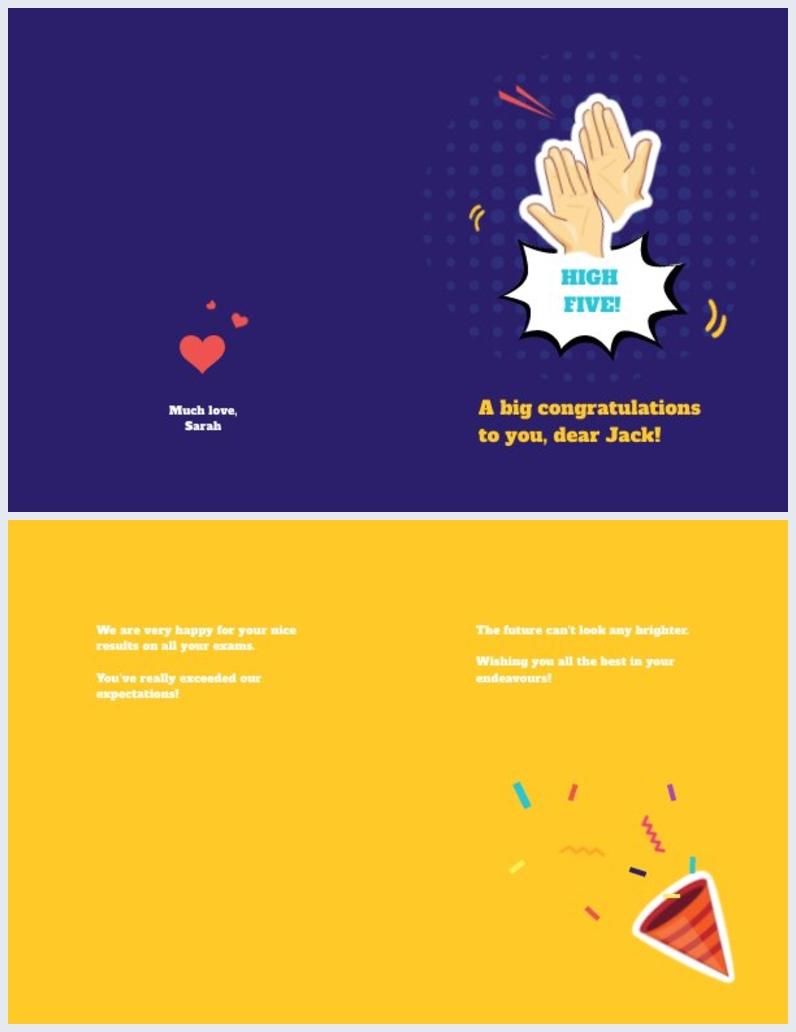 Congratulations Card Design for Teammate