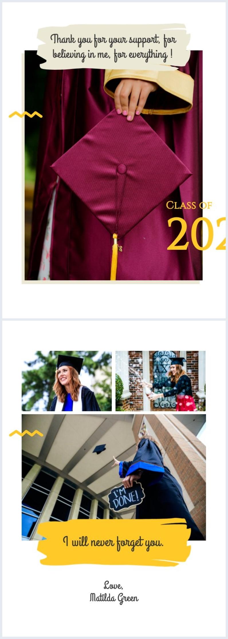 diseño de tarjeta de graduación para los estudiantes
