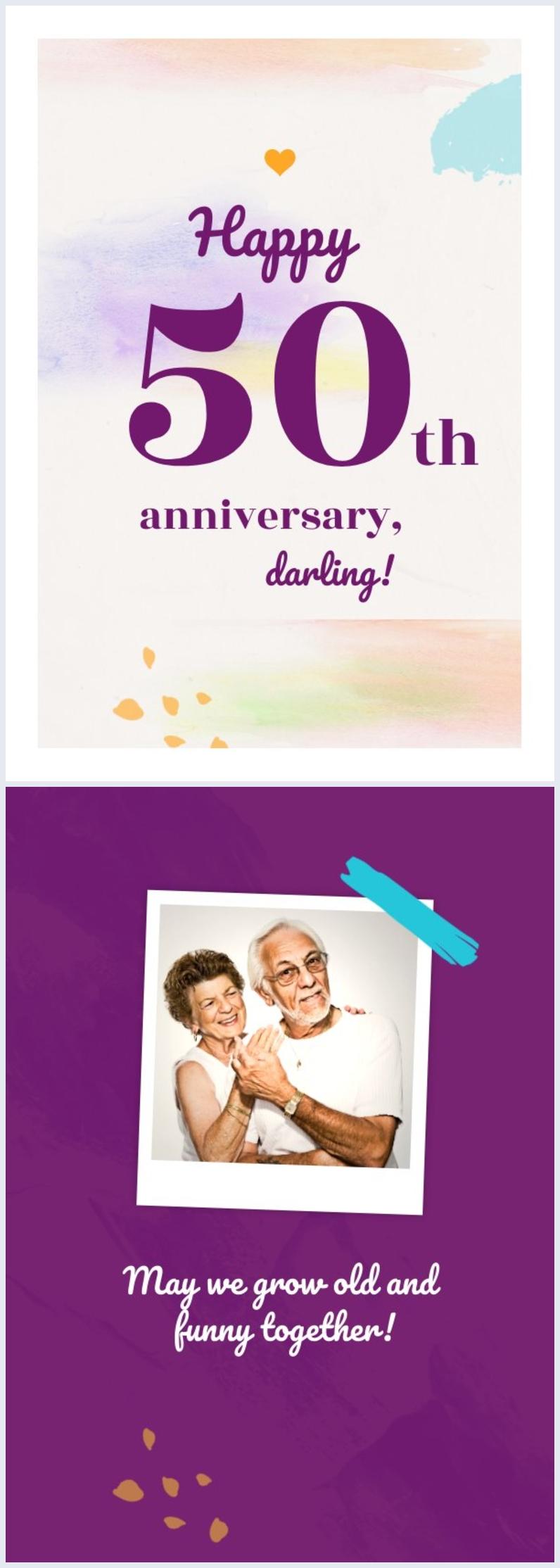 Design de carte 50e anniversaire