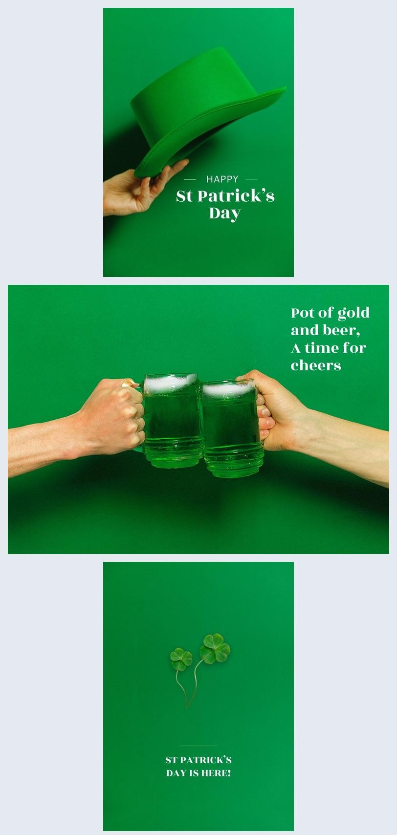 Idée de carte joyeuse Saint Patrick