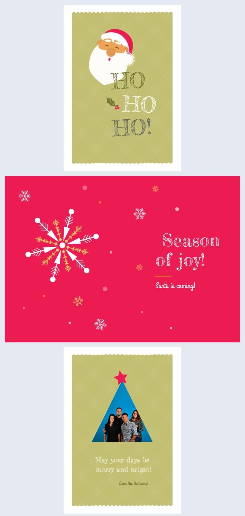 Idea para el diseño de una tarjeta de navidad