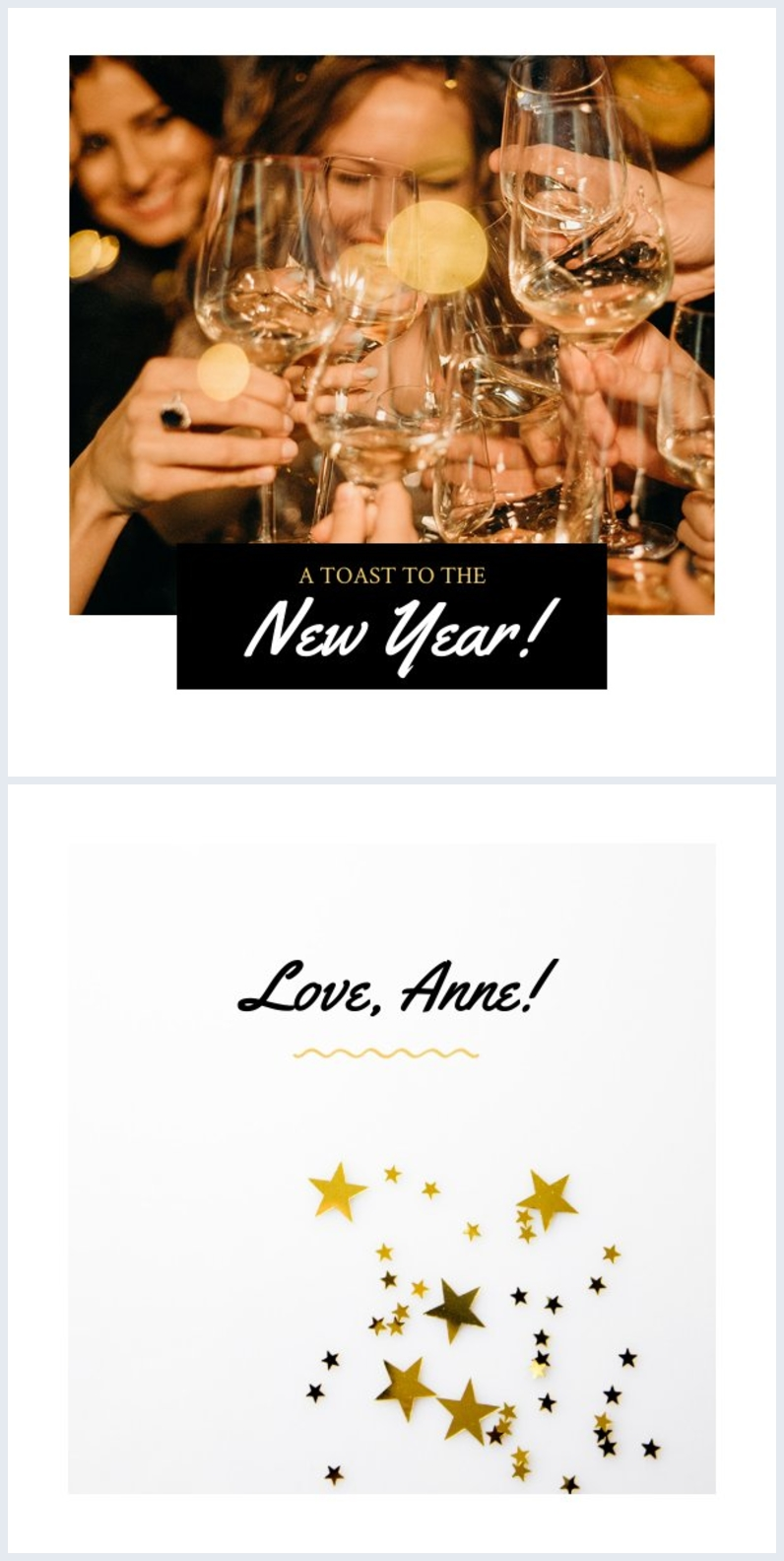 New Year Card Design Inspiration