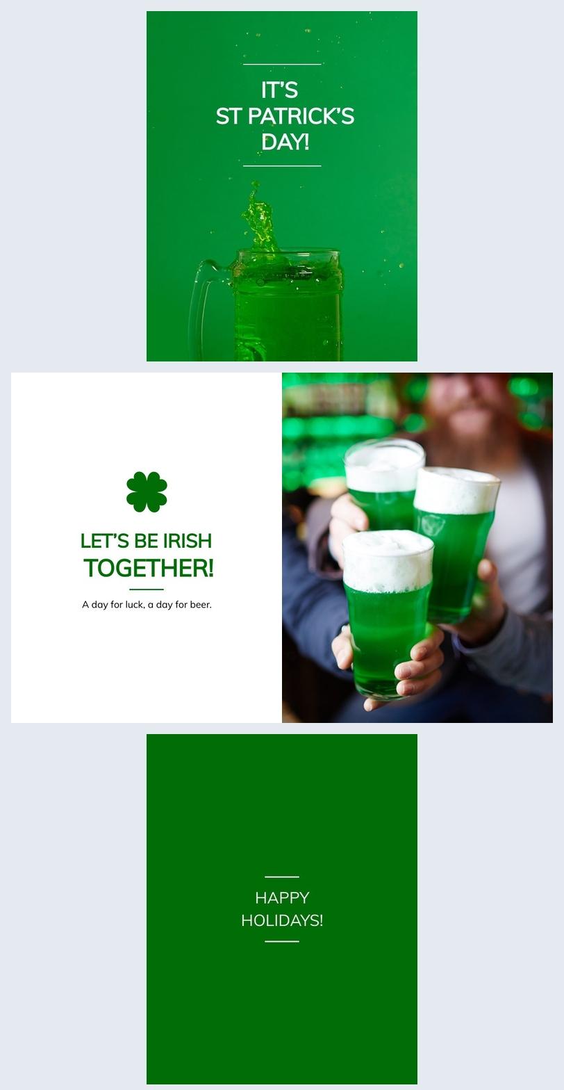Lustige St. Patrick's Day Kartenidee