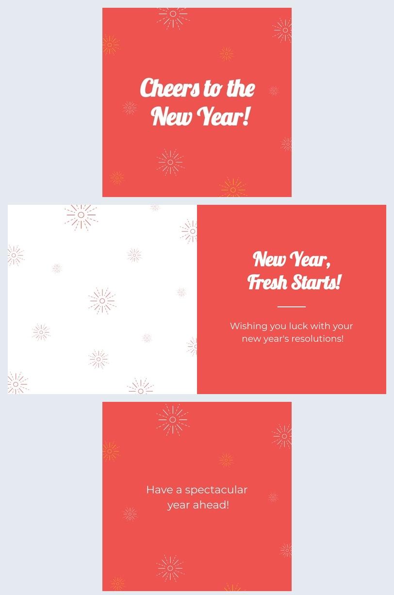 Diseño de tarjeta de Año nuevo