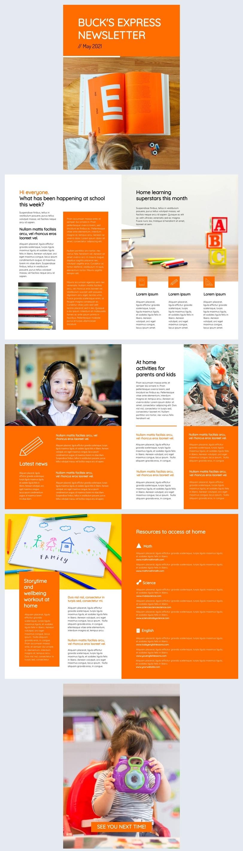Grundschul-Newsletter-Idee an Eltern