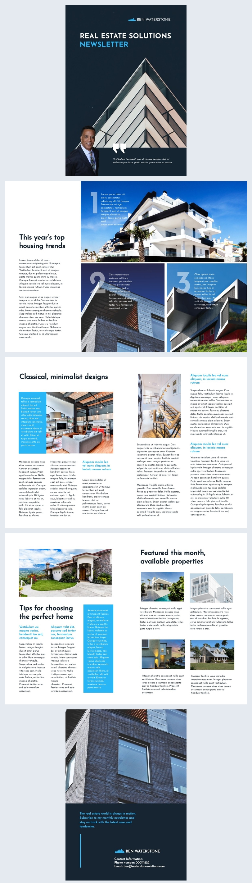 Immobilienmakler-Newsletter Design-Idee