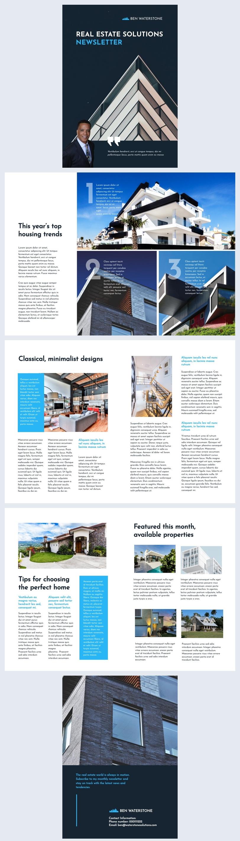 Real Estate Agent Newsletter Design Idea