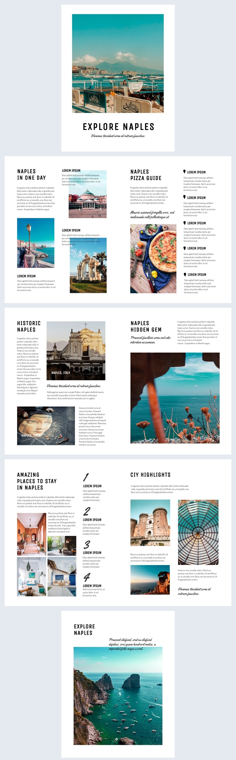 Customizable Travel Guide Book Design