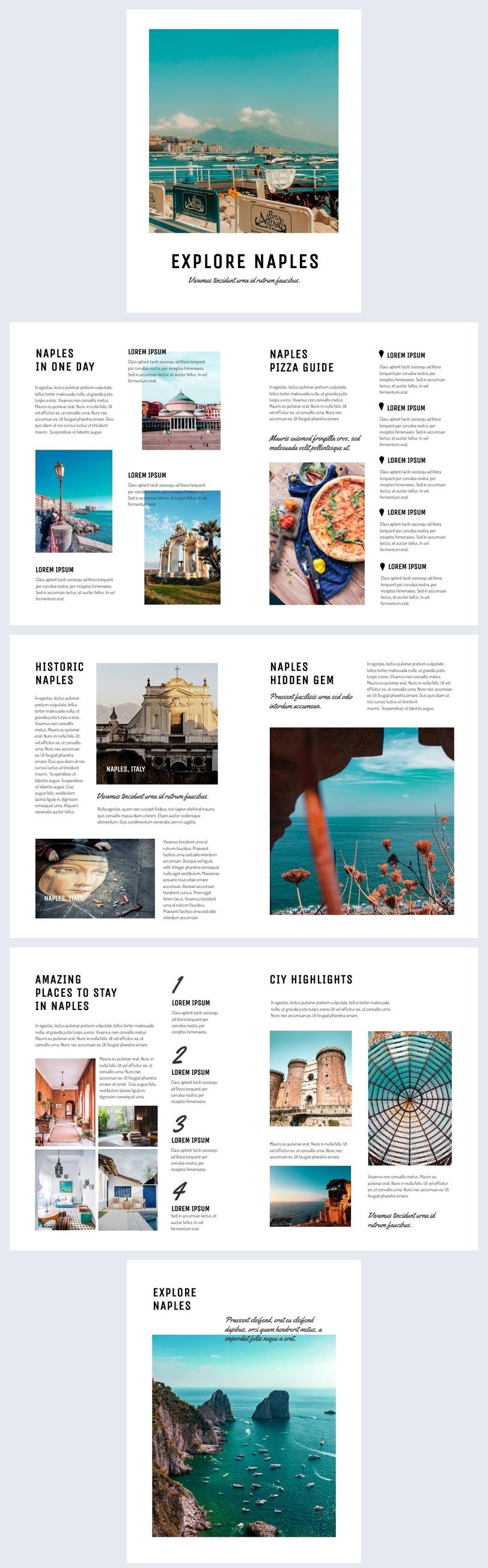 Diseño personalizable para folleto de Guía de viajes