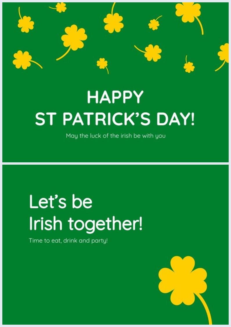 Idée de carte de la Saint-Patrick modifiable