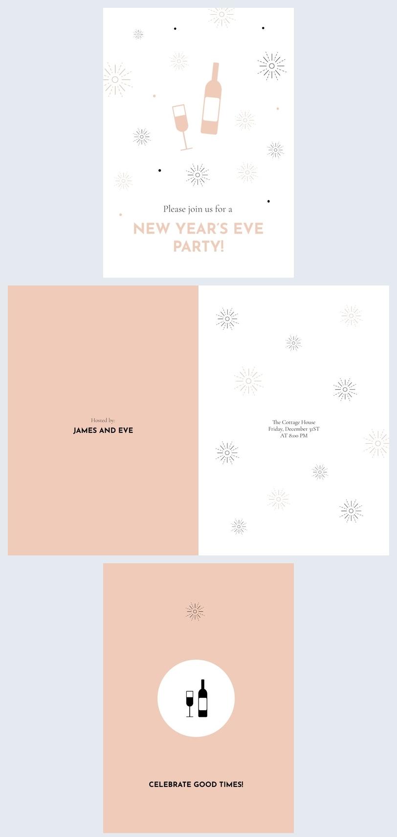 Exemple de carte d'invitation au nouvel an