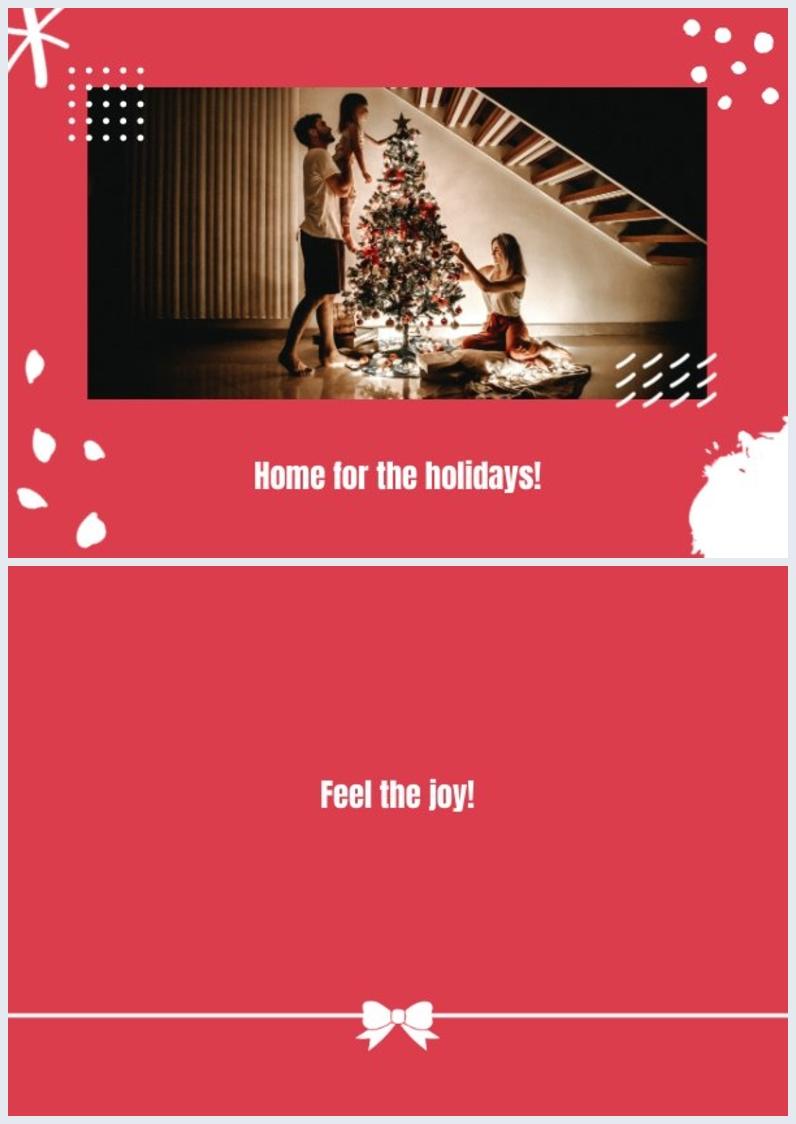 Gratis Printbaar Kerstkaart Ontwerp Voorbeeld