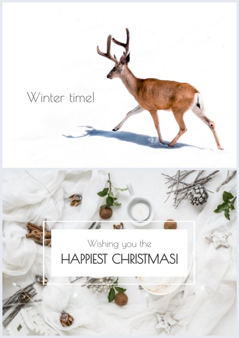 Feiertags-Grußkarten-Design-Idee