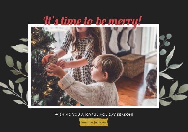 Christmas Photo Card Design Idea