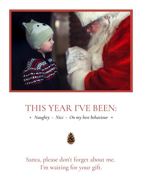Cute Christmas Photo Card Design Idea