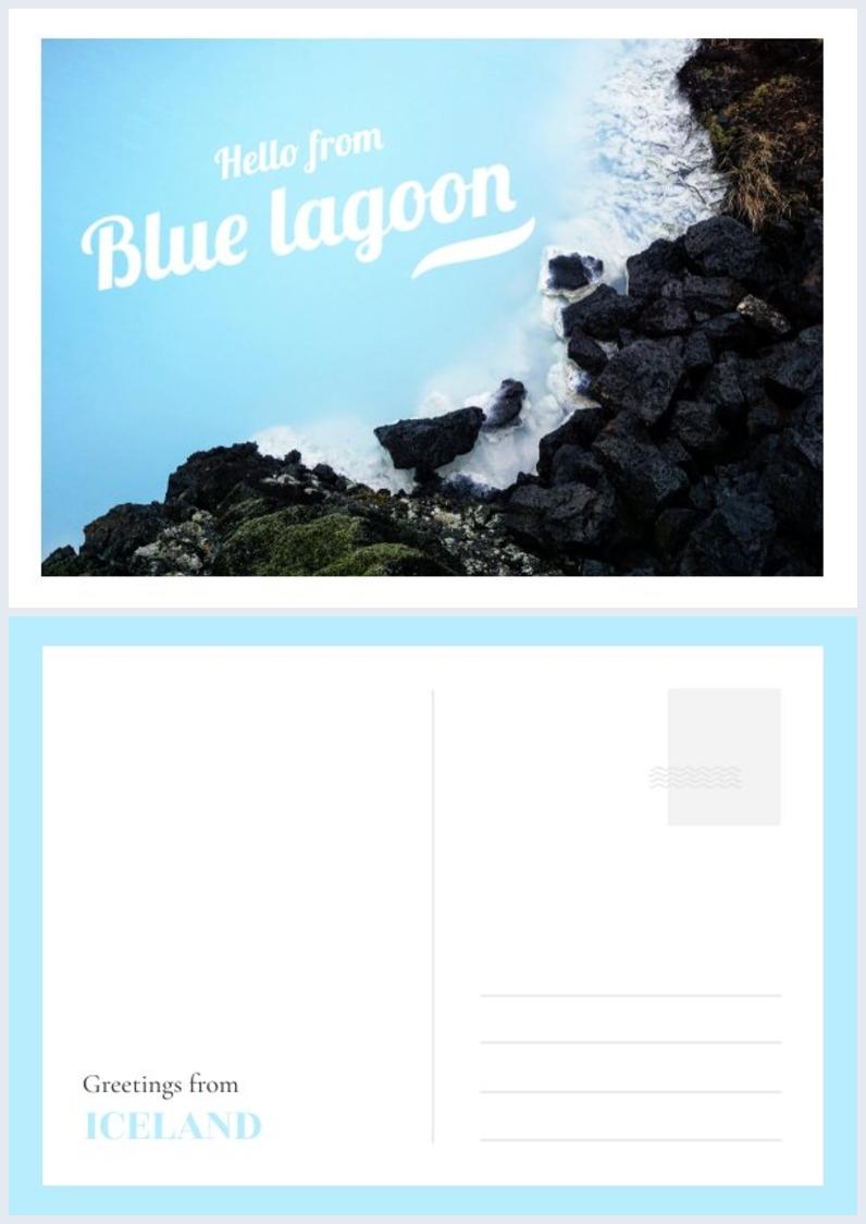 Kostenloses Beispiel für ein druckbares Postkartendesign