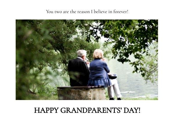 Happy Grandparents Day Card Design Idea