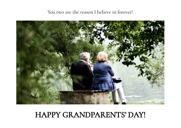 Happy Grandparents Day Card Design Idea