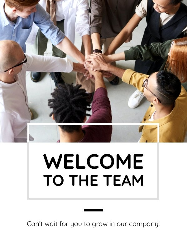 Welkom Bij Het Teamkaart Idee