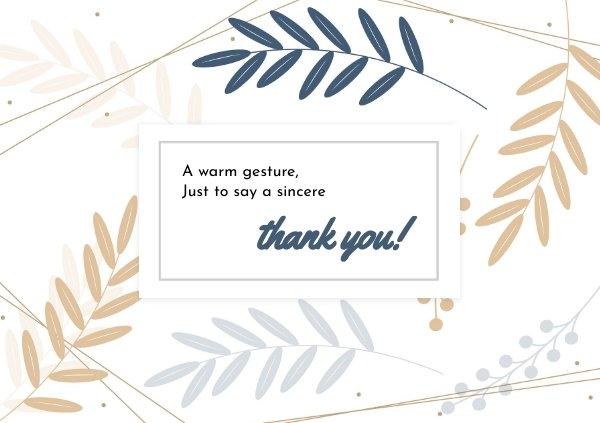Beispiel für ein Danksagungskarten-Design