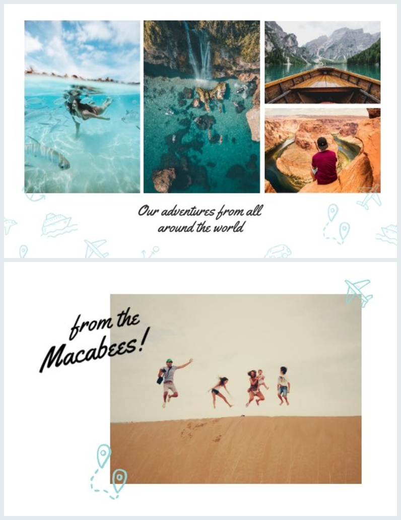 Vacation Printable Photo Card Design