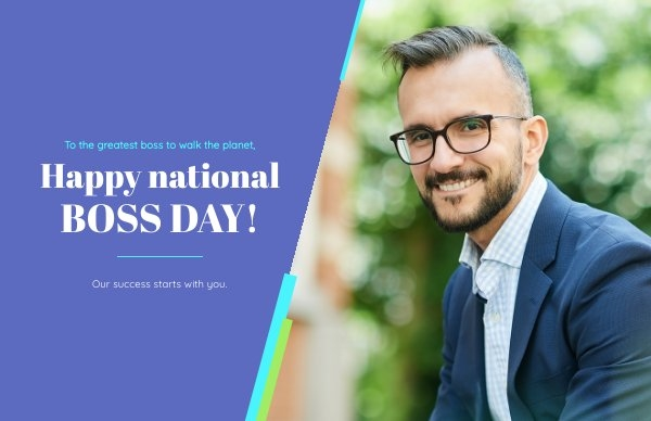 National Boss Day Card Design Example