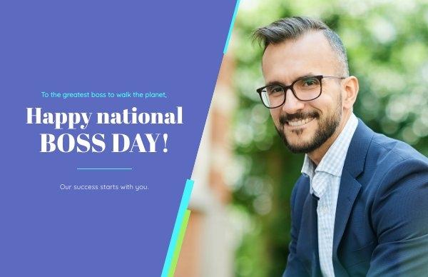National Boss Day Kartendesign-Beispiel