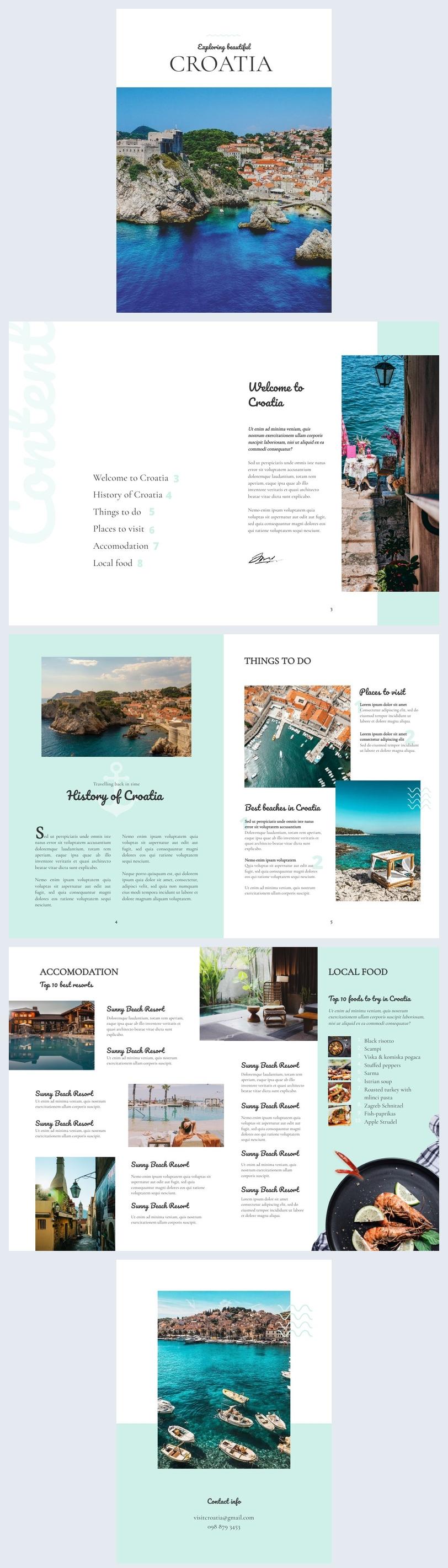 Ejemplo de plantilla para cuadernillo de viajes