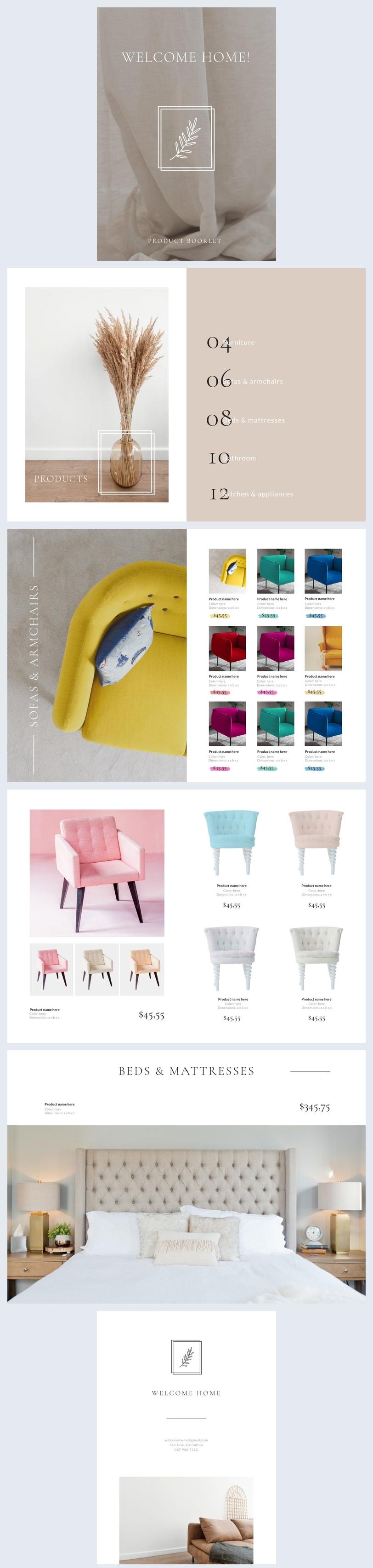 Ejemplo de diseño para cuadernillo de productos