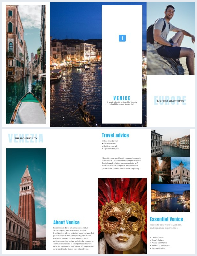 Exemplo de Design de Livreto Dobrável de 8 Páginas