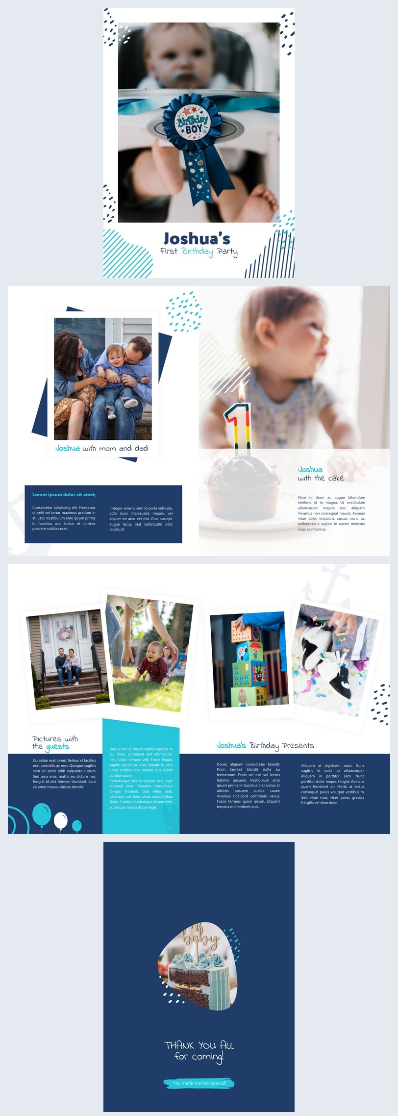 Birthday Event Booklet Layout Example