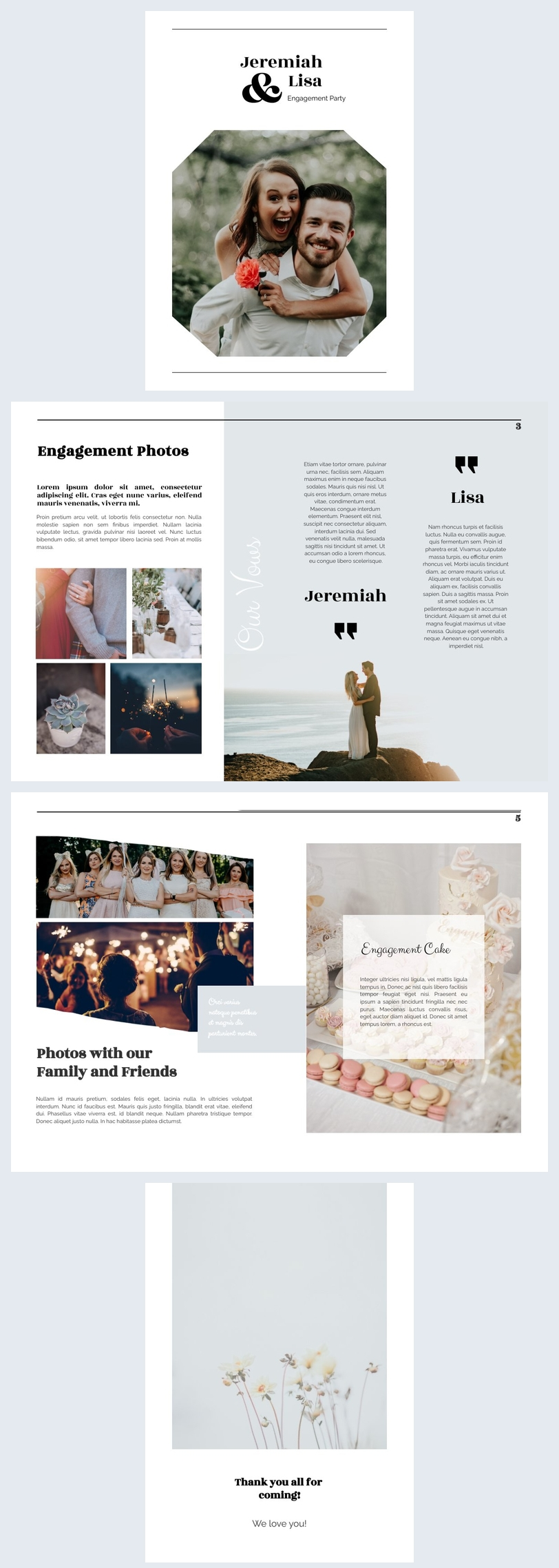Free Online Modern Event Booklet Template