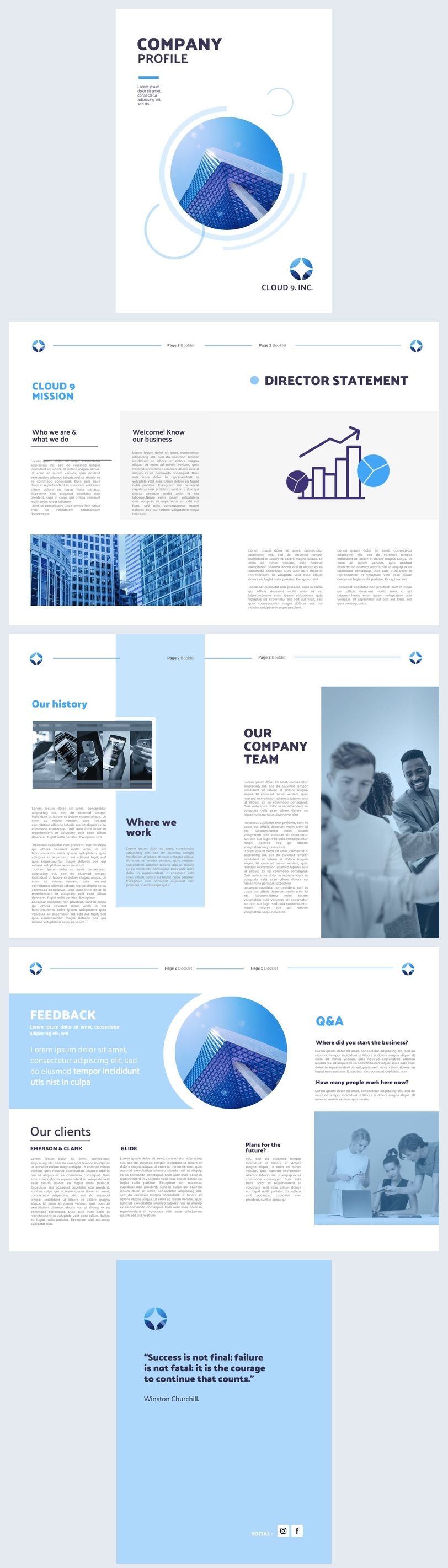 Beispiel-Design einer Unternehmensbroschüre