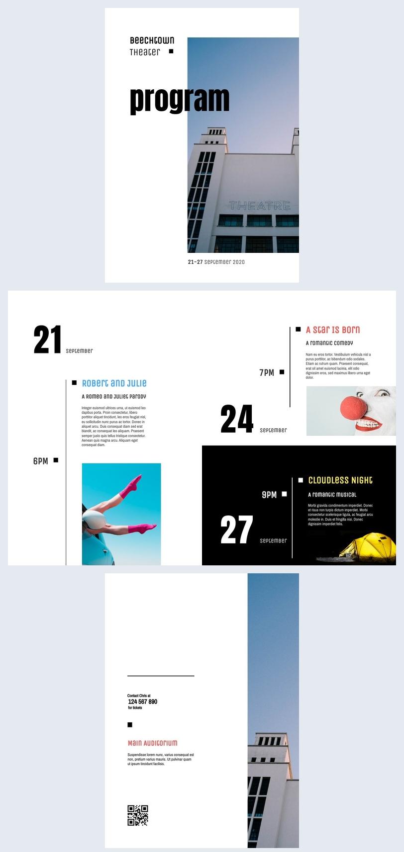 Inspiração para Design de Livreto de Evento