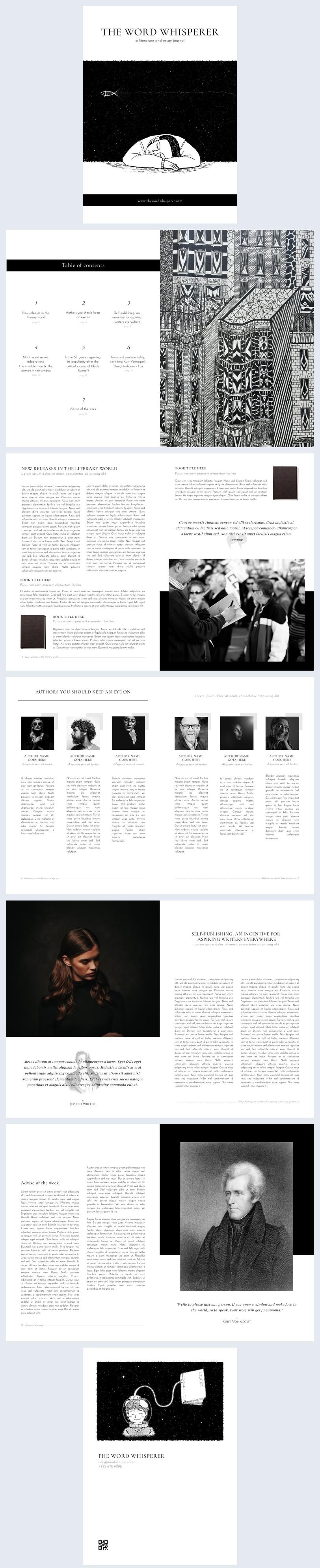 Diseño para revista literaria