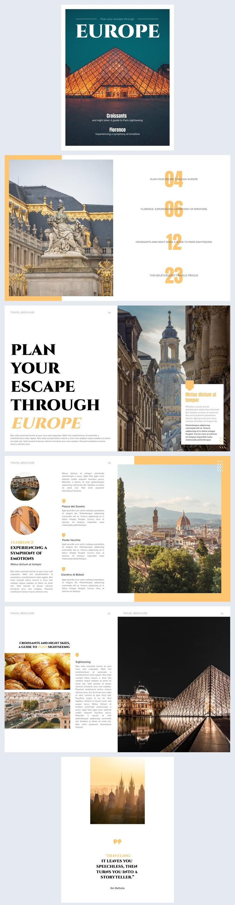 Esempio grafico per rivista di viaggi
