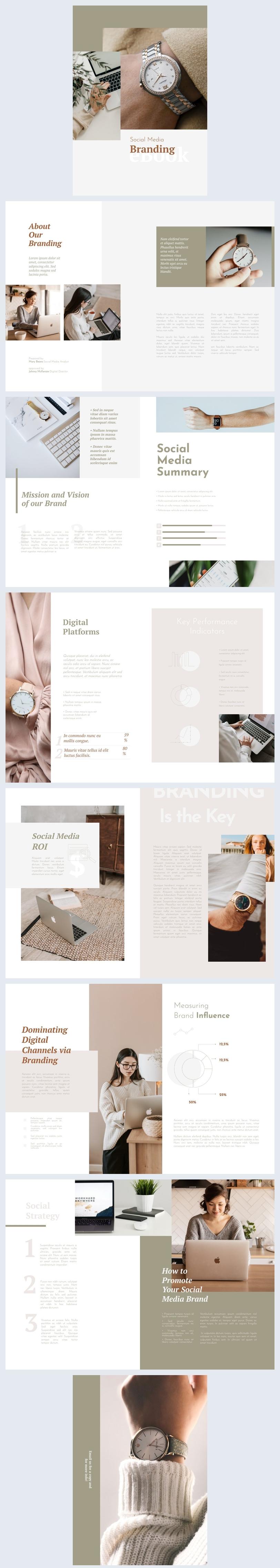 Esempio grafico per eBook di social media branding