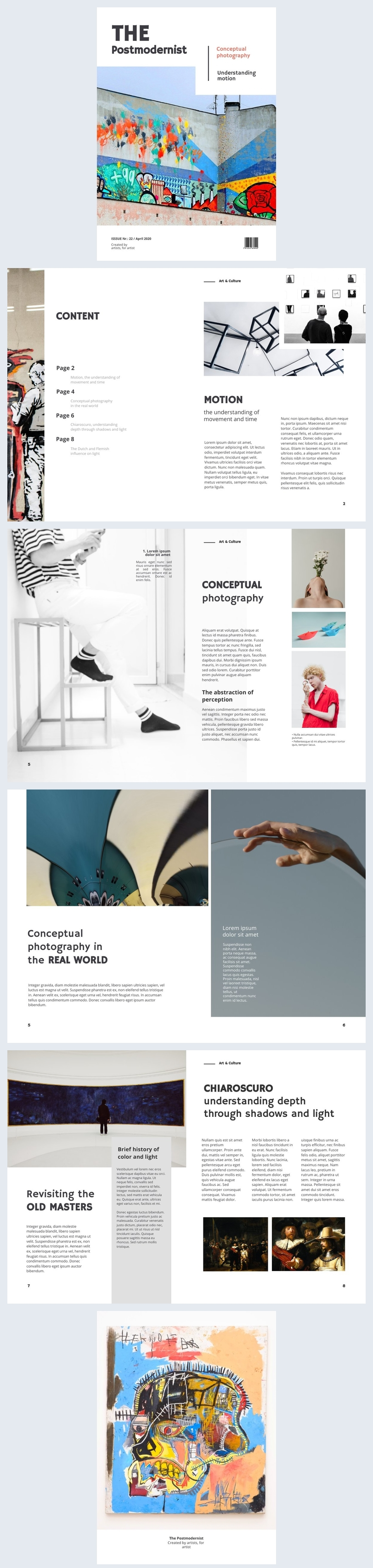 Ideia de Layout de Design de Revista de Arte