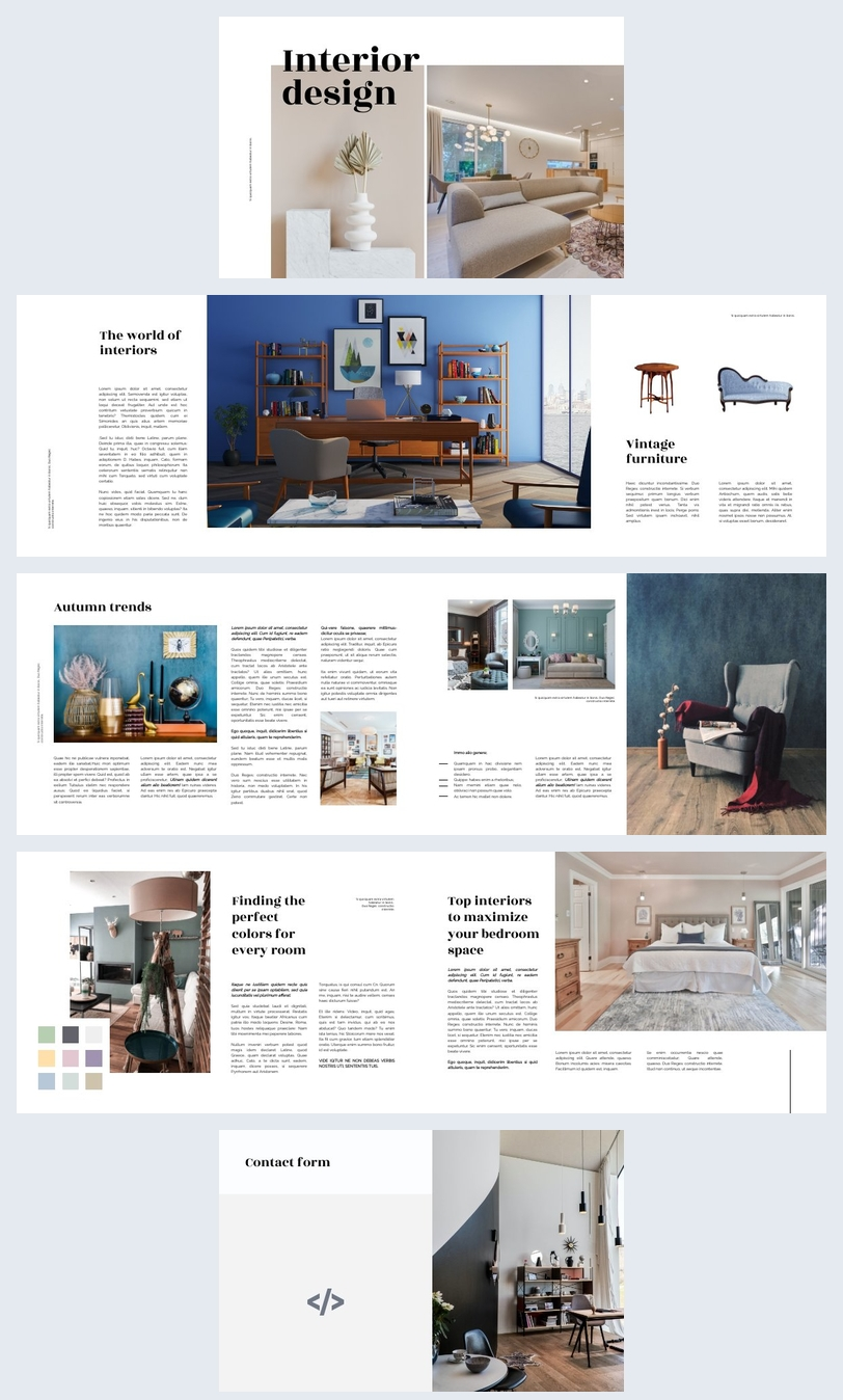 Interior Design Magazine Layout Example