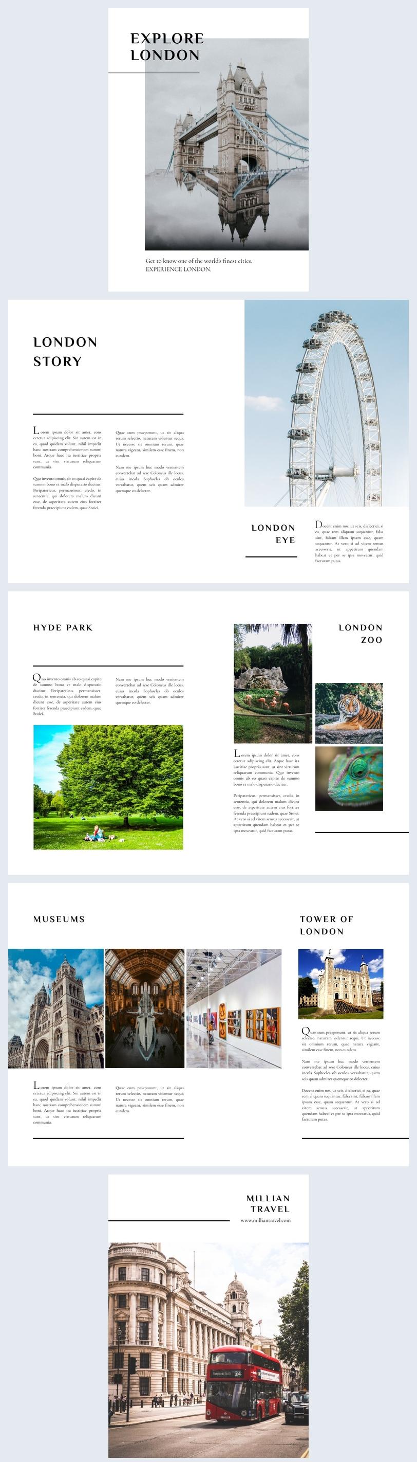 Inspiración de diseño para cuadernillo de 8 páginas