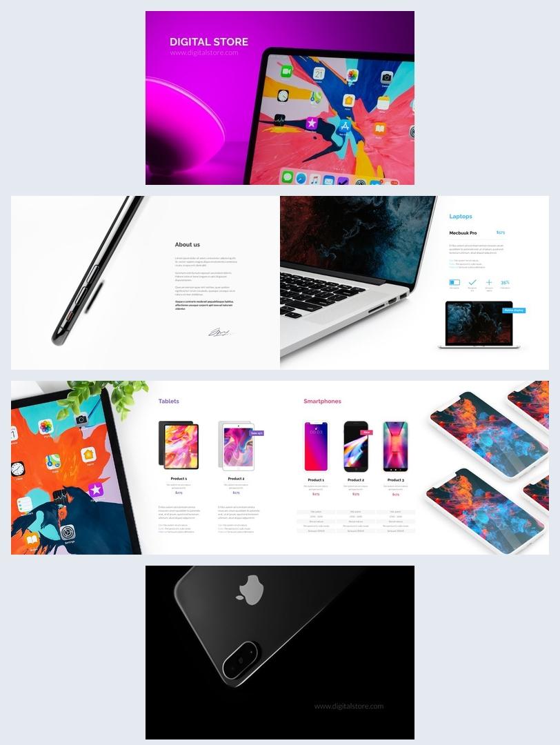 Digital Product Catalog Design Layout