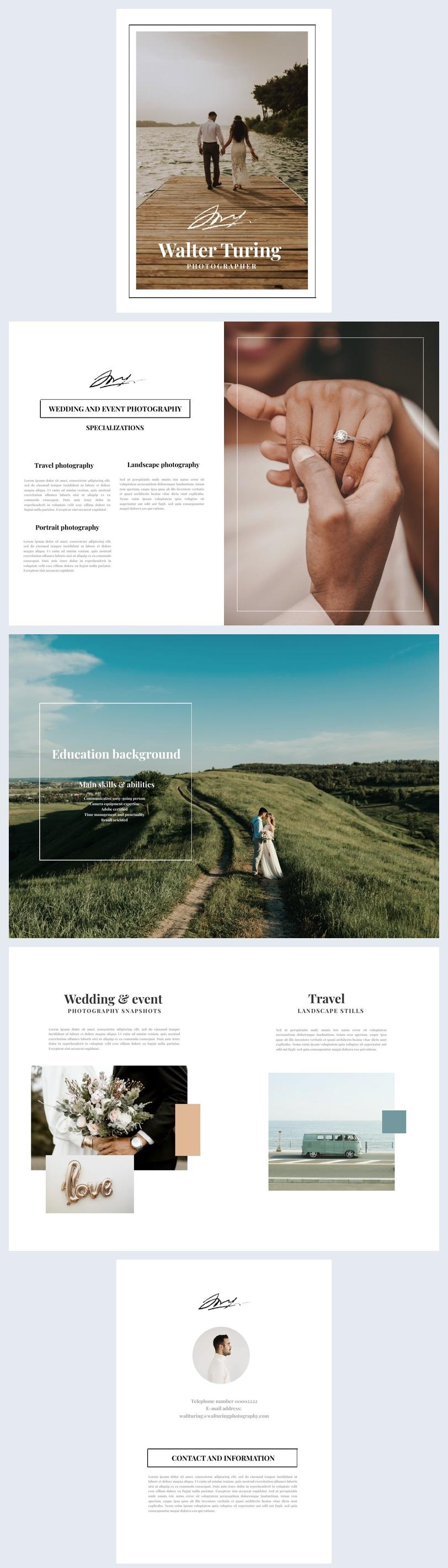 Ispirazione per layout grafico di rivista fotografica