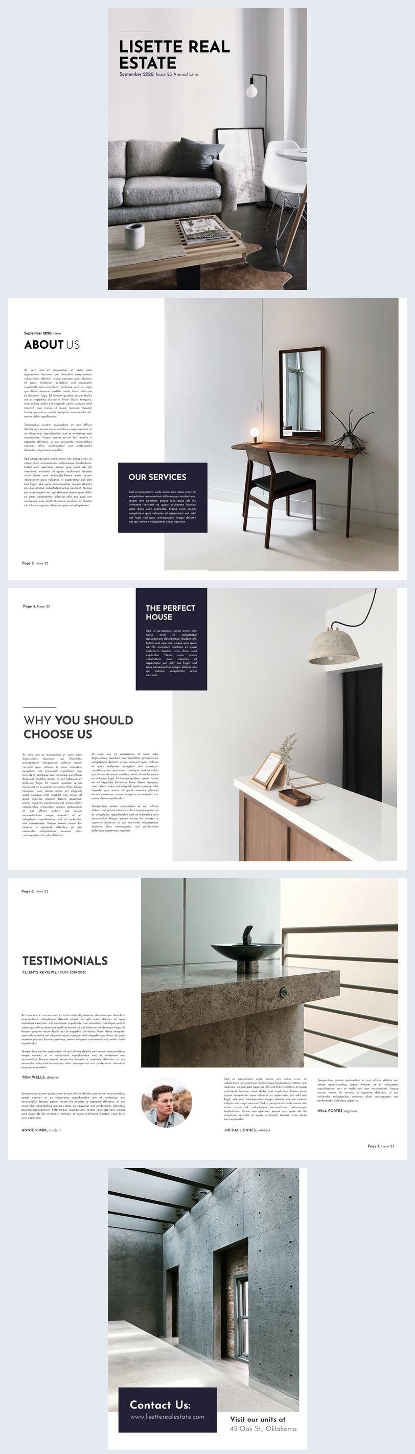Idea grafica moderna per opuscolo immobiliare
