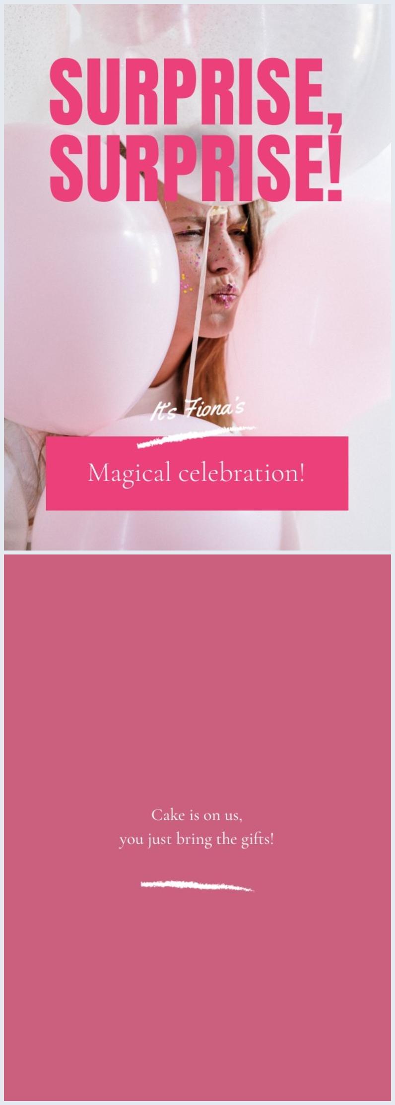 Grafica per invito alla festa di compleanno